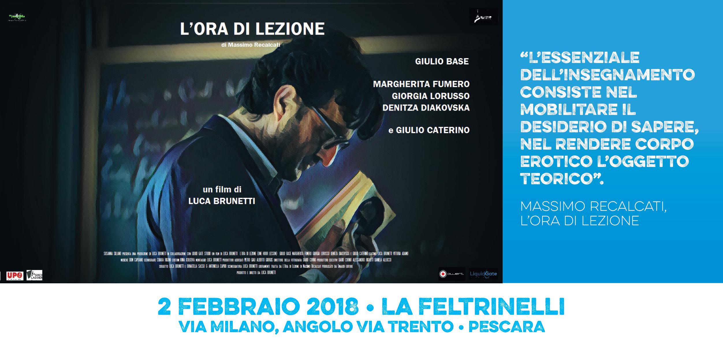 """""""L'ora di lezione"""" Proiezione cortometraggio di Luca Brunetti. Sarà presente il  Altro"""