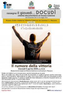 Manifesto film IL RUMORE DELLA VITTORIA