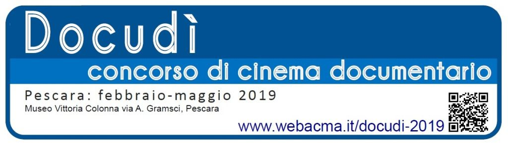 LOGO Docudì 2019. Concorso di cinema documentario. Pescara febbraio-maggio 2019