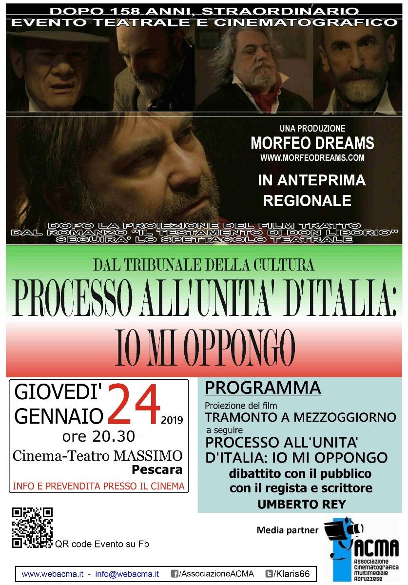 """Pescara. Anteprima regionale del film """"Tramonto a mezzogiorno"""" con il regista Um Manifesto_Tramonto-A-Mezzoggiorno"""