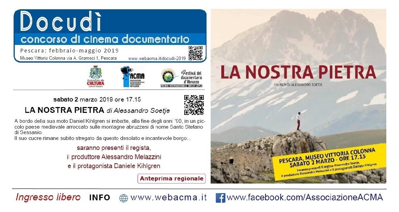 #Docudì2019 Pescara: dal 2 febbraio al 11 maggio 2019 Banner_Docudì_La-nostra-pietra