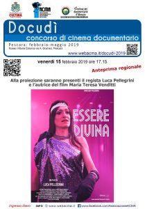 """Docudì 2019- Manifesto """"Essere Divina"""""""