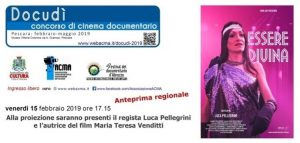 "Banner ""Essere Divina"" di Luca Pellegrini"