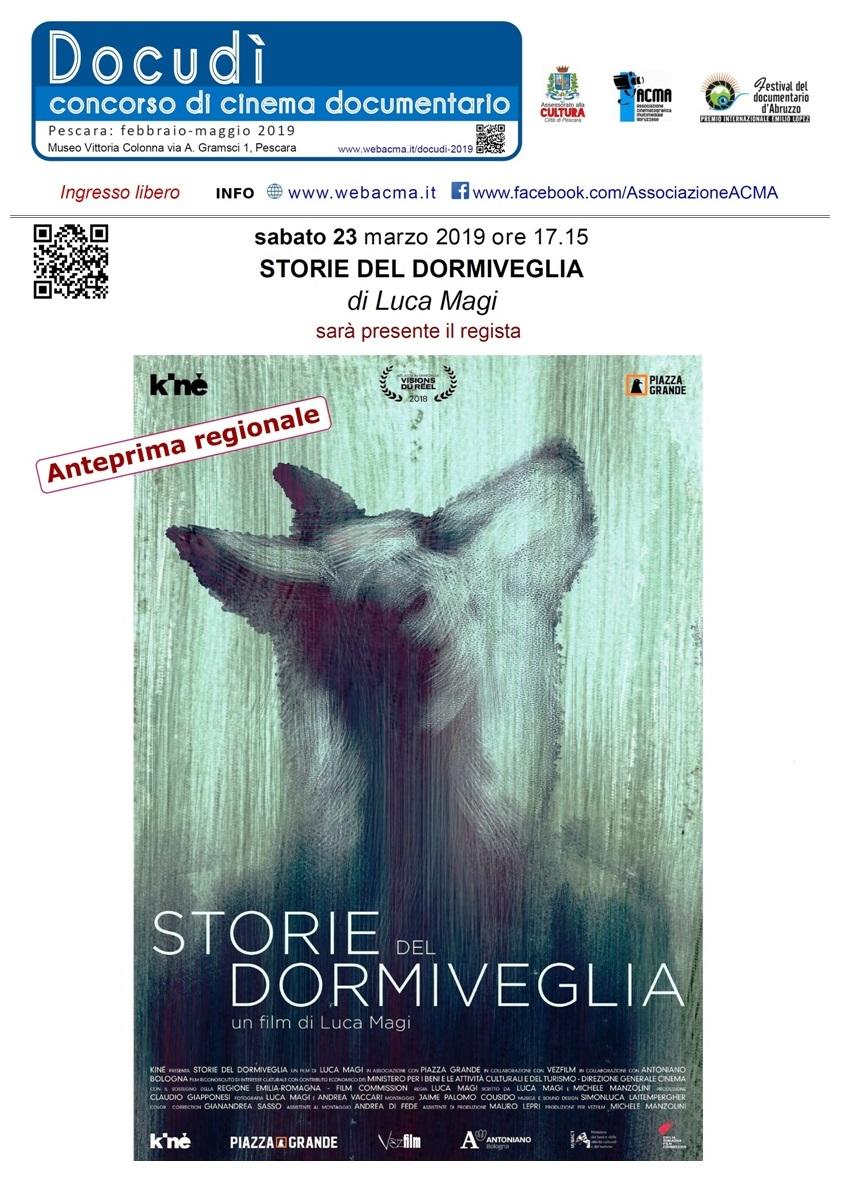 Storie del dormiveglia di Luca Magi  ANTEPRIMA REGIONALE a Pescara il 23.03.2019 2019_03_23_Manifesto_Storie-del-dormiveglia