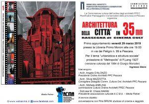 "Banner proiezione ""Metropolis"" di Fritz Lang a Pescara"