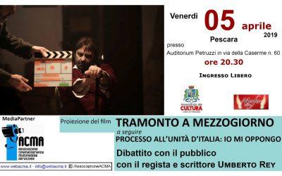 """Proiezione film """"Tramonto a mezzogiorno"""" con il regista Umberto Rey"""