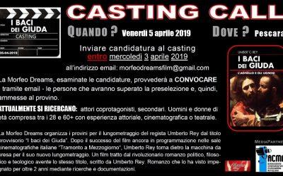 """casting della Morfeo Dreams per il film """"I BACI DEI GIUDA"""""""