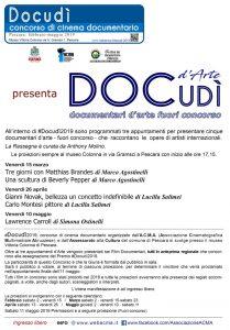 Manifesto proiezioni Docudì Arte