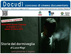 """banner 2 film """"Storie del Dormiveglia"""" di Luca Magi"""