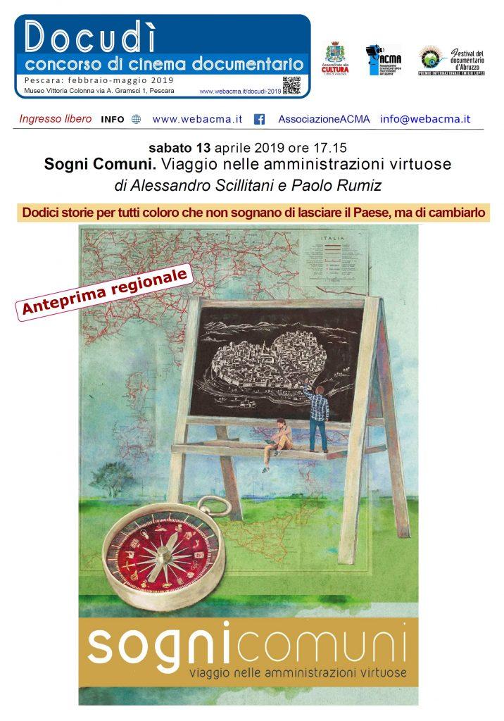 """Locandina film """"Sogni comuni"""" di Alessandro Scillitani e Paolo Rumiz"""