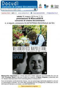 Manifesto METAMORFOSI NAPOLETANE di Antonietta De Lillo