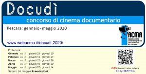 logo DOCudì2020 con proiezioni