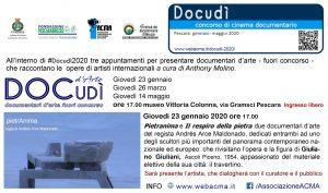 #Docudì2020 Proiezione Arte 23.01.2020